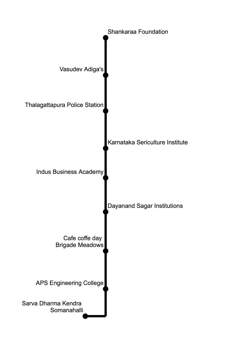 Walk of Hope in Bengaluru-Route Map-3 April 2015