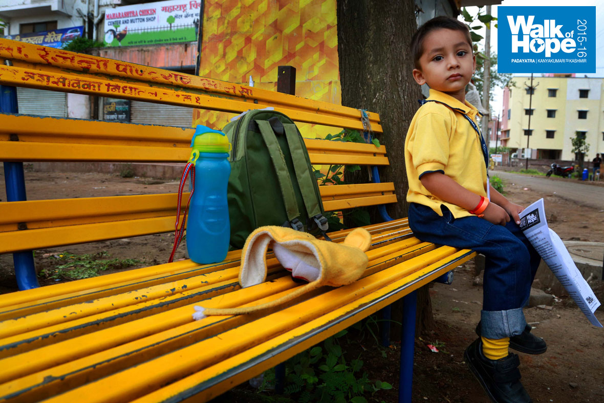 3.The-young-man-is-ready-to-take-on-the-world!,-school-bag,-water-bottle-&-playdoll-et-al,-that-too-with-matching-bench,-shirt-&-socks!!,-Nashik,-Maharashtra)