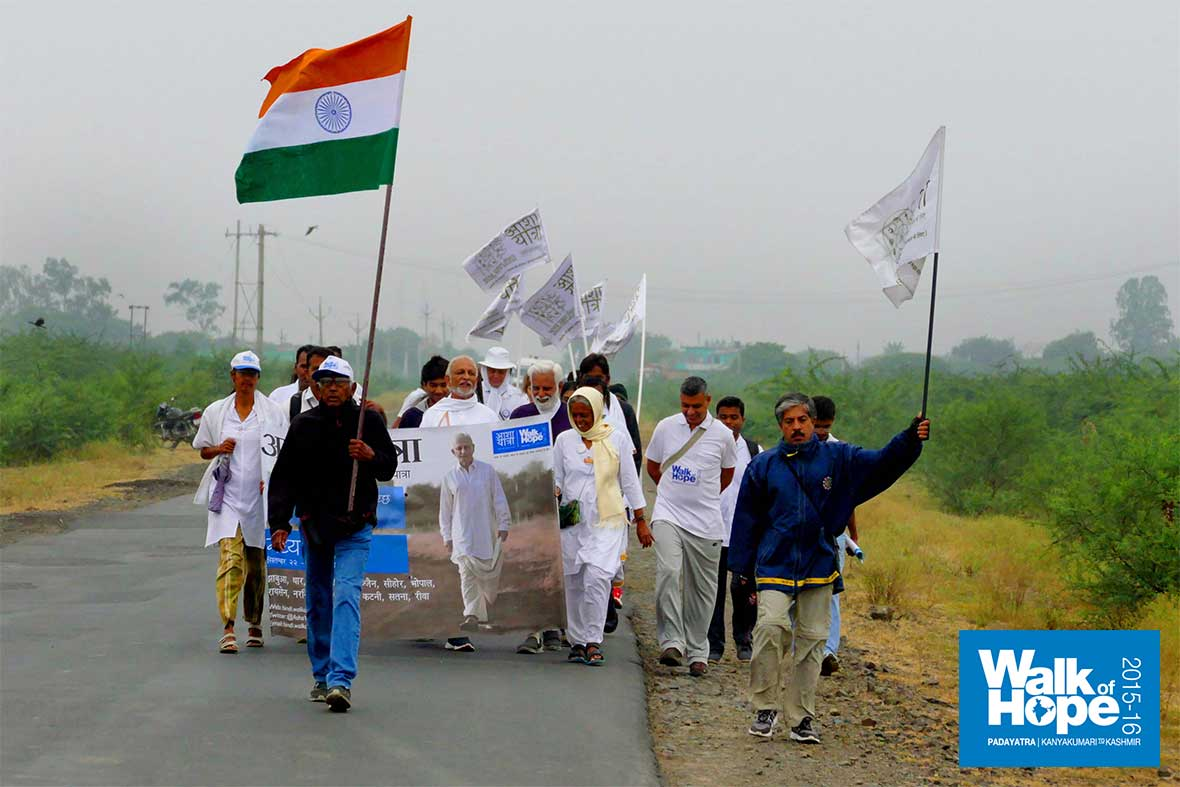 1.WOH-Day-293,-we-walked-from-Khargone-to-Udaipura,-another-day-of-bracing-weather,-Raisen,-MP