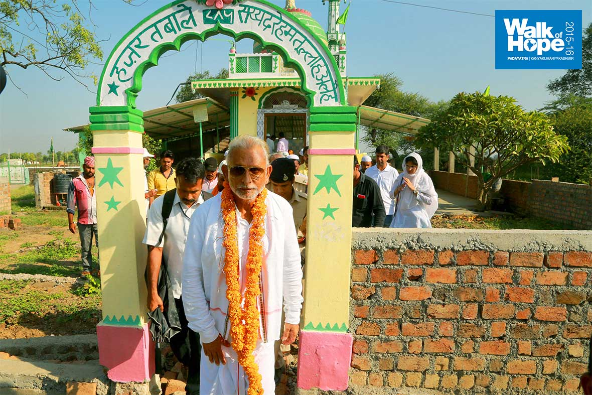 7.Sir-coming-out-of-the-Dargah-of-Hazrat-Bale-Sayyad-Rahmatullah-Aleh,-Medhvada,-Indore,-MP