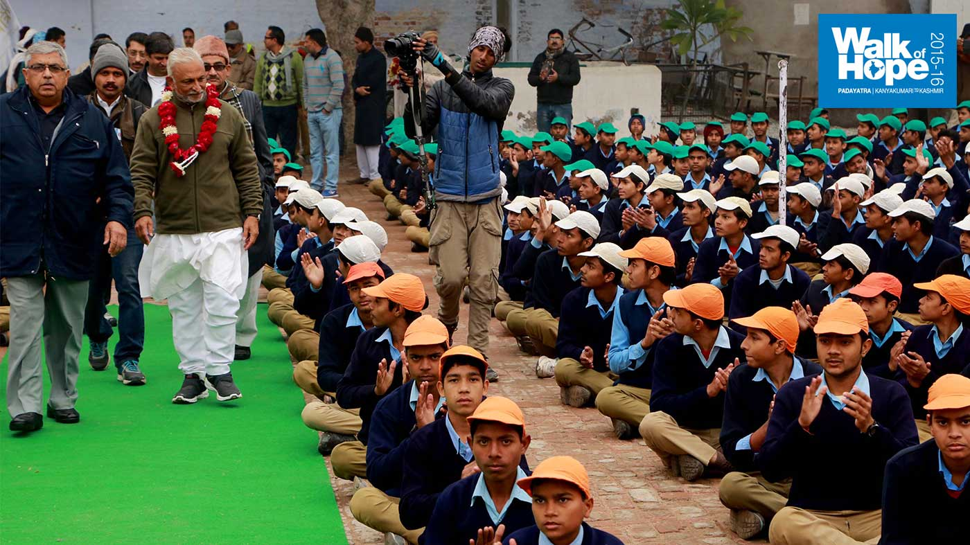 6.Making-up-the-Indian-tricolour-with-their-hats,-HMS-Islamia-Inter-College,-Etawah,-UP